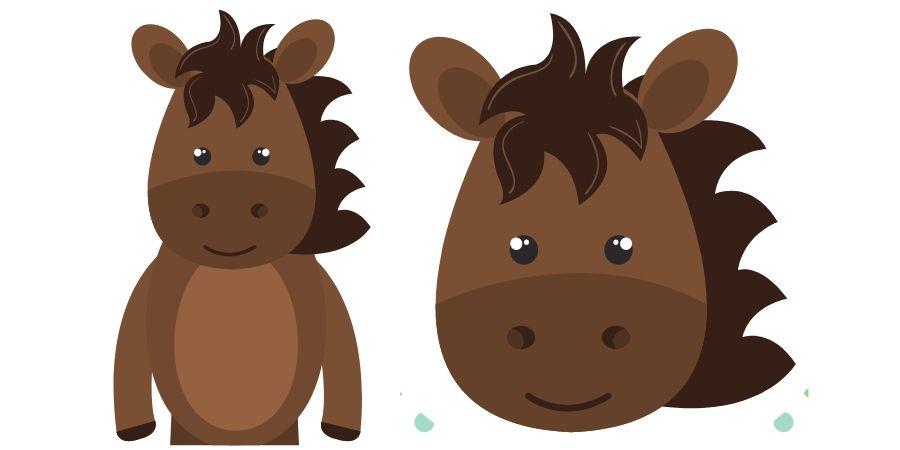 dibujar caballos kawaii