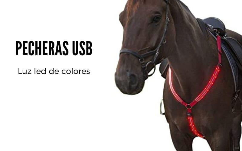 pecheras led para caballos